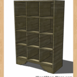 shoe storage woodworking plans