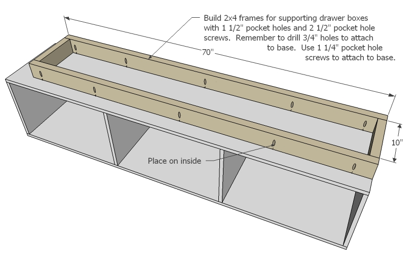 twin storage bed woodworking plans step 11