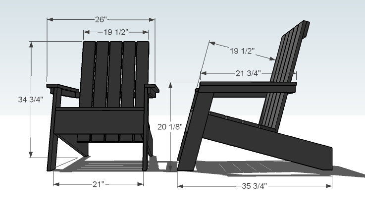 adirondack chair woodworking plans - WoodShop Plans