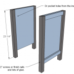 nightstands woodworking plans step 02
