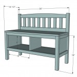 storage bench woodworking plans 2
