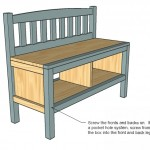storage bench woodworking plans step 06