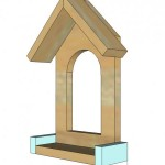 window birdfeeder woodworking plans step 04