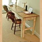 farmhouse sofa or entry table woodworking plans