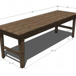 farmhouse sofa or entry table woodworking plans 2