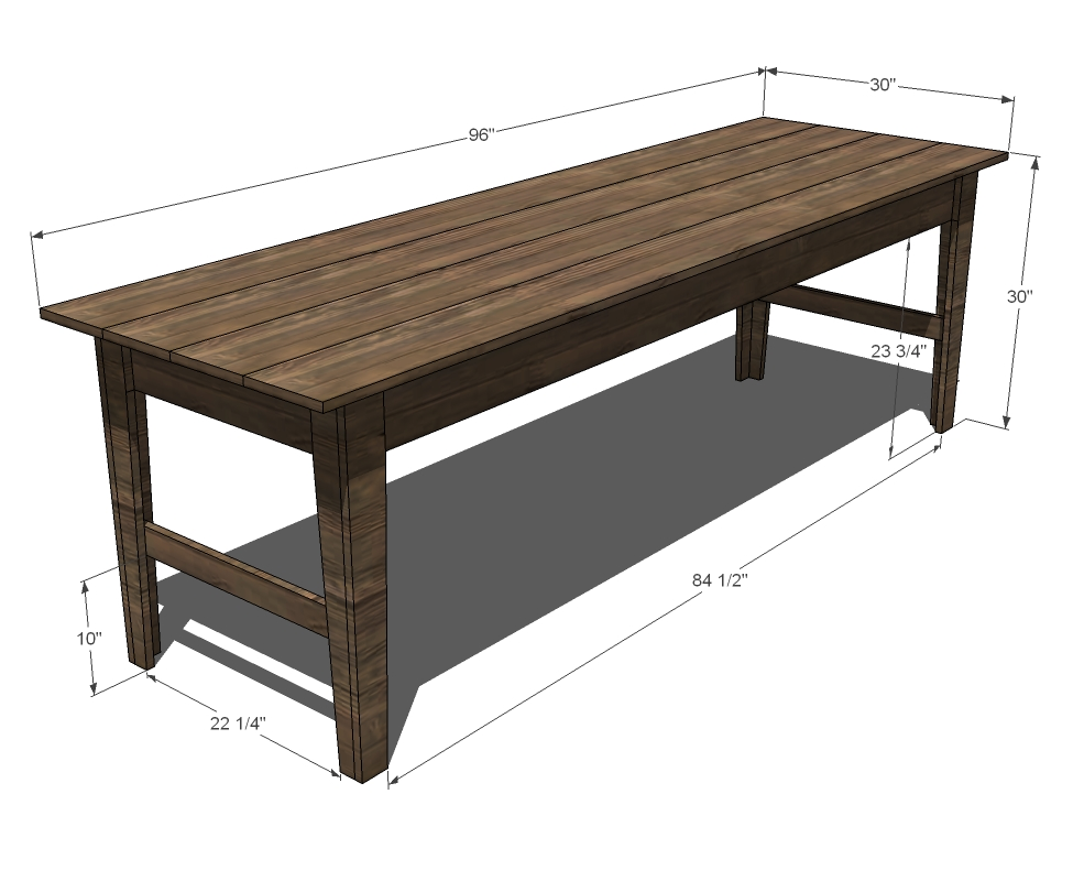 farmhouse sofa or entry table woodworking plans woodshop