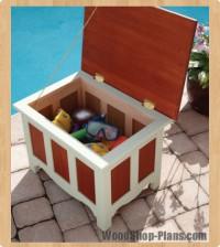 Outdoor storage bench woodworking plans