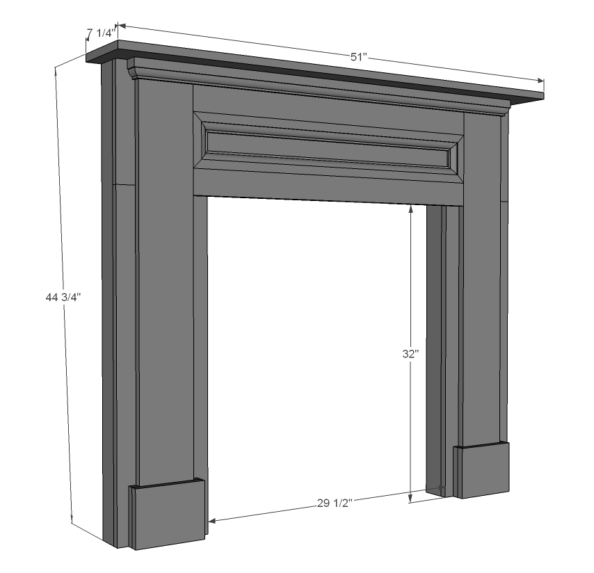 Faux mantle woodworking plans woodshop plans - Build sealed fireplace home step step ...