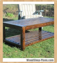 outdoor coffee table woodworking plans