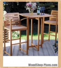 patio set woodworking plans